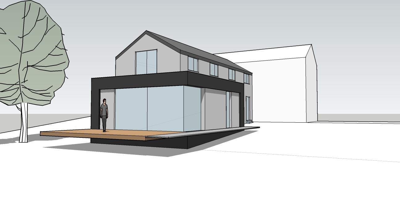 Projet lc brice tilkin architecte 2 bureau d for Bureau d architecture