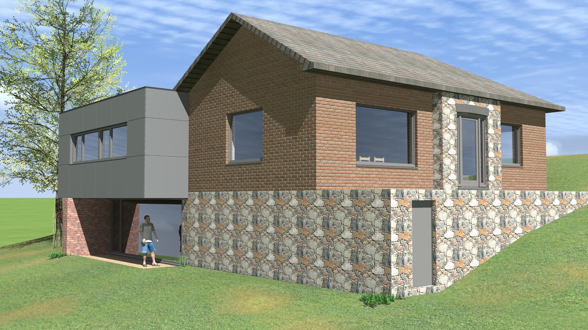 tilkin brice architecte li ge projet m 3 bureau d 39 architecture tilkin. Black Bedroom Furniture Sets. Home Design Ideas