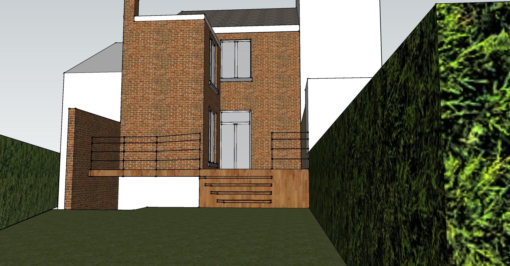 tilkn architecte li ge terrasse 2 bureau d 39 architecture tilkin. Black Bedroom Furniture Sets. Home Design Ideas