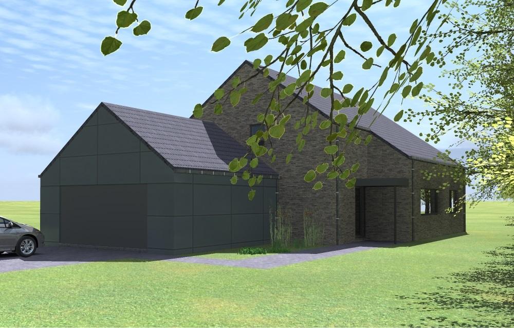 archietcte tilkin beaufays projet lh 1 bureau d 39 architecture tilkin. Black Bedroom Furniture Sets. Home Design Ideas