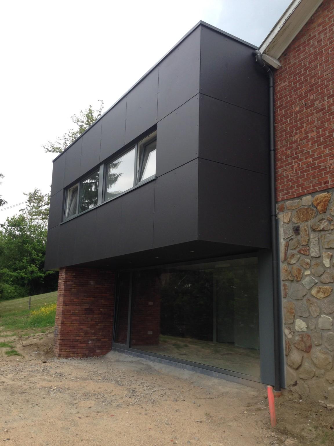 tilklin brice architecte li ge annexe ossature bois 5 bureau d 39 architecture tilkin. Black Bedroom Furniture Sets. Home Design Ideas