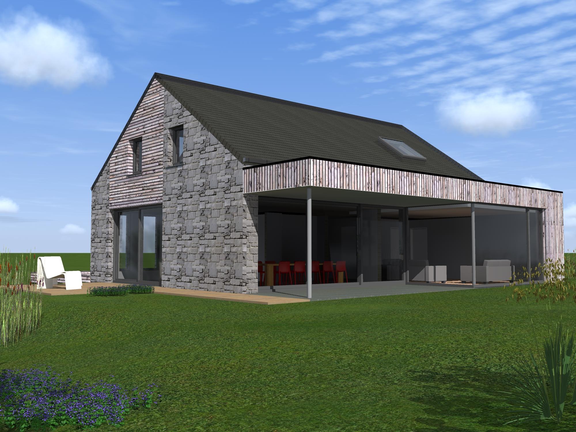 maison tl theux architecte tilkin 7 bureau d 39 architecture tilkin. Black Bedroom Furniture Sets. Home Design Ideas